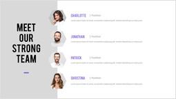 私たちの強力なチームのPowerPointデザインをご覧ください パワーポイントデザイン_1 slides