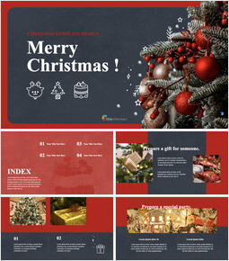Merry Christmas beautiful keynote templates_40 slides