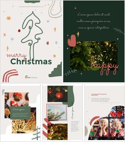 Merry Christmas Theme Design Template professional presentation_00