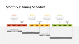 Programma di pianificazione mensile Design del modello_1 slides