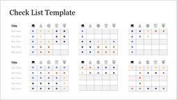 Multiple Check List Template PowerPoint Slide_00