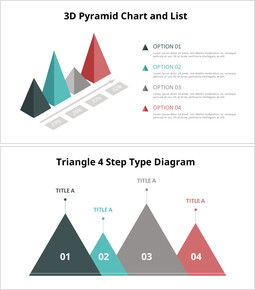 Mutiple Pyramid List Diagram powerpoint animation template_00