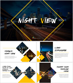 Night View template design_00
