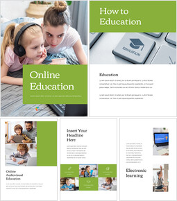 Online education PowerPoint Table of Contents_25 slides