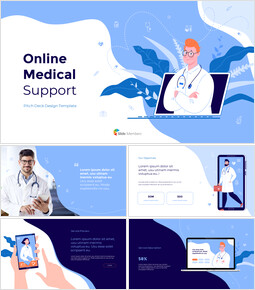 Online Medical Support Deck Template PPT Business_12 slides