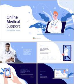 Online Medical Support Deck Template PPTX to Keynote_12 slides