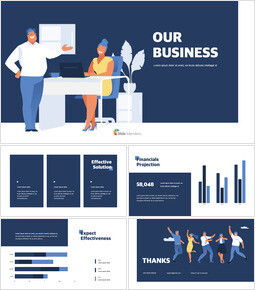 Our Business Presentation Design team presentation template_00
