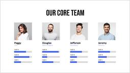 Diapositiva semplice del nostro team principale Modello di pagina_1 slides