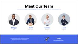 私たちのチームPPTスライド PPTデッキデザイン_1 slides