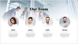 Presentazione del nostro team Layout PPT_1 slides