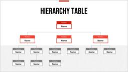 빨간색 상자 계층 구조 테이블 템플릿 디자인_00