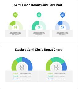 Semi Circle Donut Chart Template_10 slides