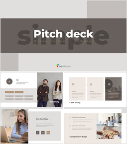 Simple Design Pitch Deck pitch presentation template_00