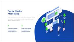 Social media marketing Modello di pagina_2 slides