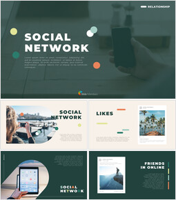 Social Network Simple PowerPoint Templates_00