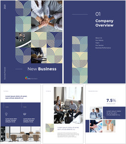 Start New Business Vertical Layout Template company profile template design_00