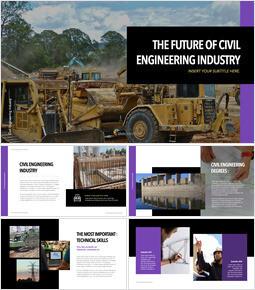 The Future of Civil Engineering Industry slide template_40 slides