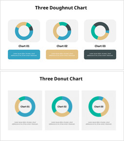 Grafico a tre ciambelle di confronto_8 slides