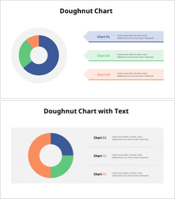 Three Division Donut Chart with Text_16 slides