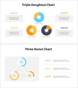 3 개의 도넛 형 차트 템플릿_00