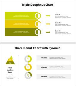 Triple Donut Chart List_8 slides