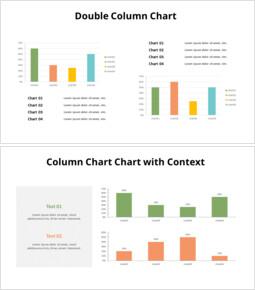2つの比較縦棒グラフセット_20 slides