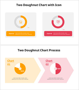 Two Donut Chart with Icons_00