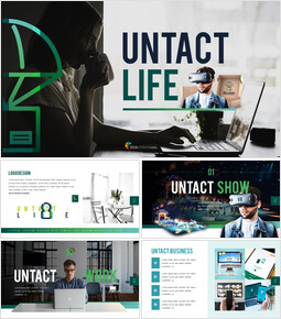 Untact Life Presentation Templates Design_00