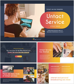 Untact Service Templates for PowerPoint_00