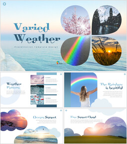 Varied Weather Easy Presentation Template_00