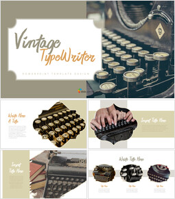 Vintage Typewriter Simple Templates_35 slides