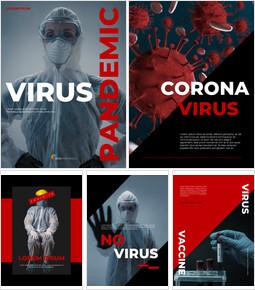 Plantilla de diseño de póster de pandemia de virus Diseño de plantillas simples_00