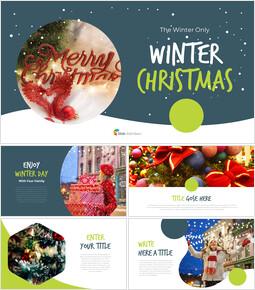 Navidad de invierno plantilla de presentación del equipo_00