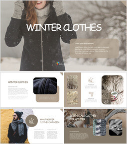 winter clothes keynote template download_00