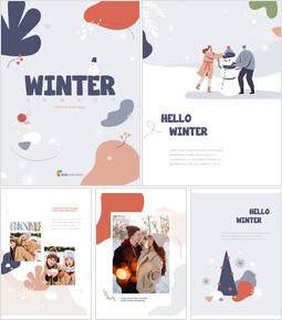겨울 시즌 테마 추상 디자인 서식 파일 파워포인트 포맷_00
