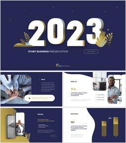 2021年ビジネススタートピッチデッキアニメーションスライド_14 slides