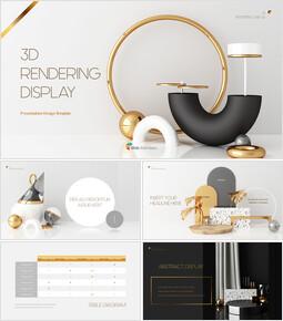 Visualizzazione di rendering 3D Easy PowerPoint Design_40 slides