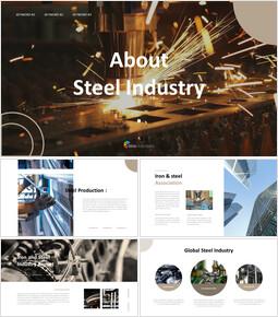 About Steel Industry Google Slides Presentation Templates_40 slides