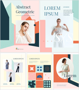 Abstract Geometric Lookbook Cover Presentation PowerPoint_26 slides