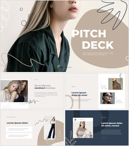 Abstract Style Pitch Deck powerpoint animation template_13 slides