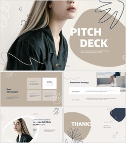 Abstract Style Pitch Deck presentation slide design_13 slides