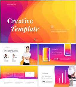 Abstract Wavy Background Creative Business Animated Slides_13 slides