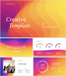Abstract Wavy Background Creative Business Apple Keynote Template_13 slides