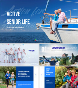 Active Senior Life powerpoint template download_50 slides