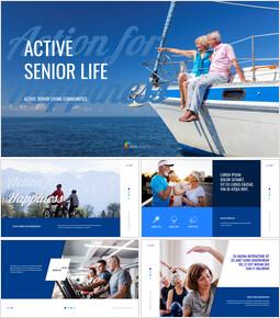 Active Senior Life presentation slide design_50 slides