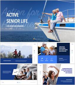 Active Senior Life Simple Keynote Template_50 slides