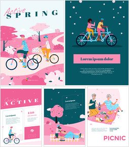 Active Spring Theme Illustration Template powerpoint ppt_29 slides