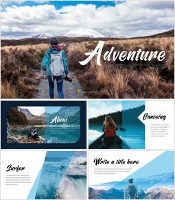 Adventure slide template_35 slides