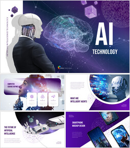 Tecnologia AI Miglior design di presentazione_50 slides
