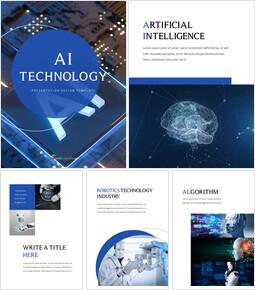 AI 기술 PPT 프레젠테이션 샘플_25 slides